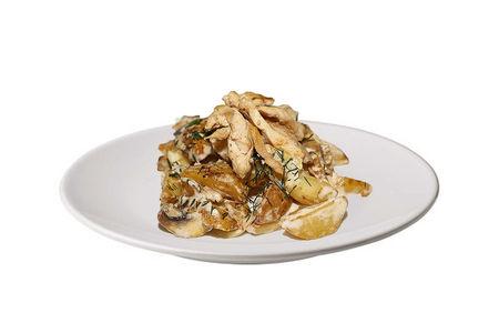 Картофель по-деревенски с курицей