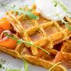 Фото к позиции меню Вафли картофельные с лососем