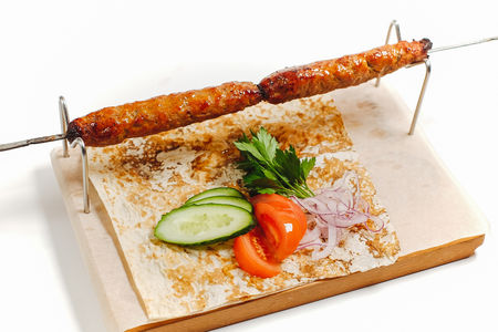 Кебаб из говядины и свинины