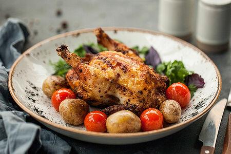 Цыплёнок в дровяной печи