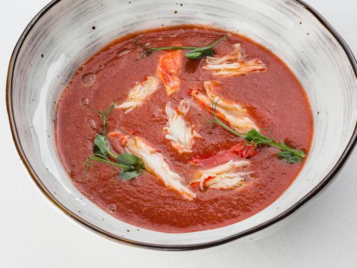 Суп Гаспачо с крабом