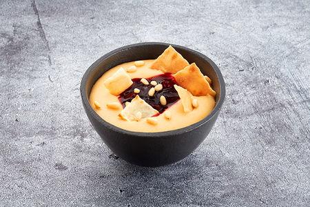 Десерт Гурьевский с вишневым вареньем и орешками