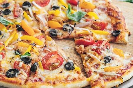 Пицца с начинкой из овощей