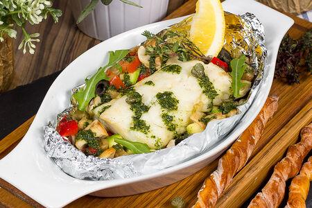 Филе трески в фольге с овощами