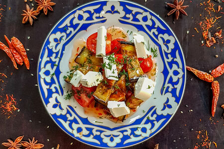 Салат Баклажаны в сладком соусе