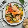 Фото к позиции меню Креветки с овощами
