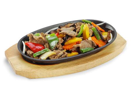 Свиная вырезка на горячей сковородке Моо Тепан