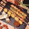 Фото к позиции меню Шашлык в лаваше из курицы