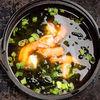 Фото к позиции меню Мисо-суп с тигровыми креветками