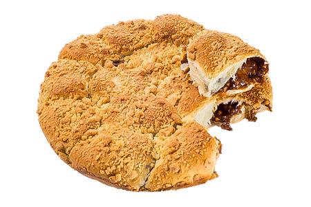 Пирог со сгущенкой и арахисом