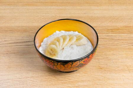 Каша рисовая с бананом