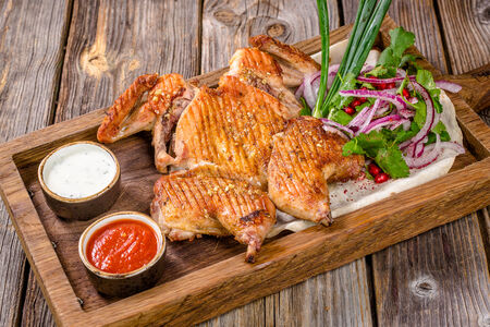 Целый цыпленок маринованный по-свански