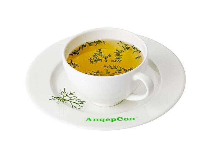 Суп Чашка бульона с зеленью