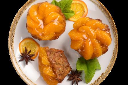 Маффин морковный с мандаринами постный, Ресторанная Коллекция