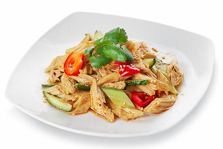 Салат с китайской спаржей
