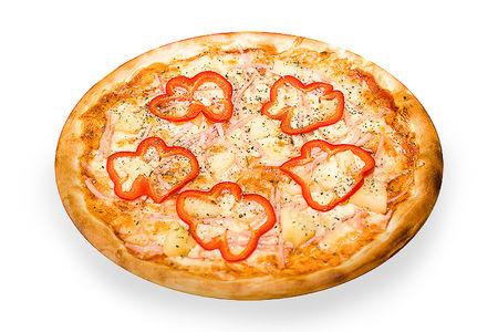 Пицца ветчина с ананасами