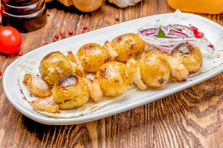 Молодой картофель с курдюком