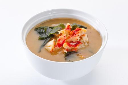 Мисо суп с мясом камчатского краба