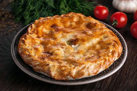 Мини дагестанский пирог с мясом и картофелем