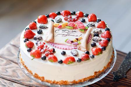 Торт Праздничный с поздравлением