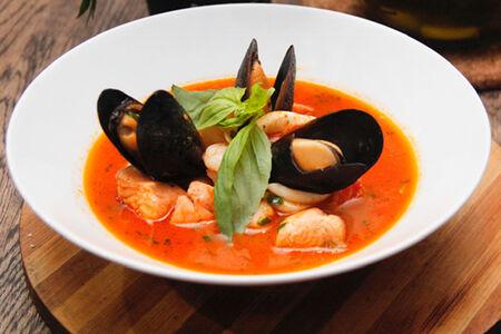 Суп с мидиями по-сицилийски