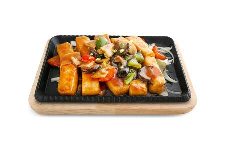 Жареный тофу с бамбуком