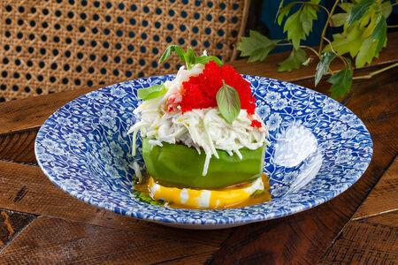 Салат Краб и авокадо гриль