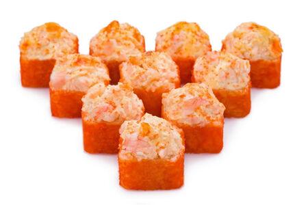 Ролл Запеченный сырный с тигровыми креветками гранд