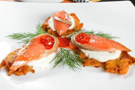 Чикиляи с лососем