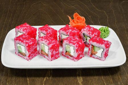 Ролл Масаго с лососем