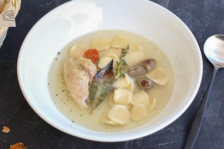 Куриный суп с орекьетти