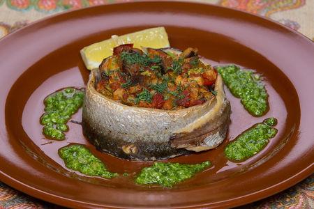Ряпушка, запеченная с овощами