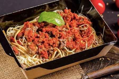 Спагетти болоньезе с мраморной говядиной