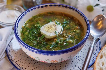 Щавелевый суп с говяжьей грудинкой