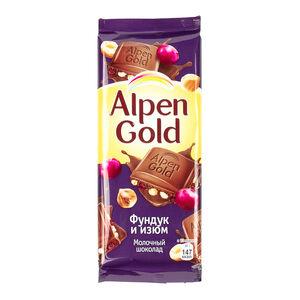 Alpen Gold фундук-изюм