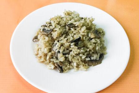 Рис с шампиньонами