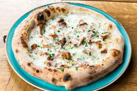 Пицца Грибы и бекон
