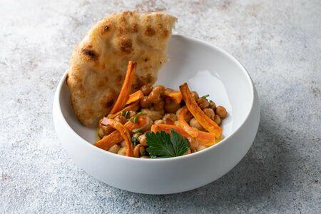 Хумус с печёной морковью