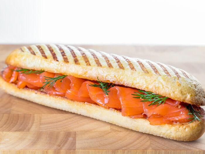 Панини с лососем
