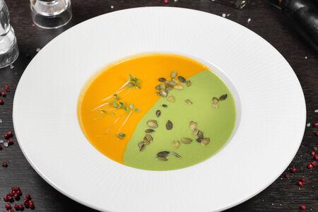 Крем-суп из брокколи и тыквы