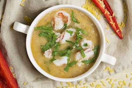 Суп Чечевичный с лангустини
