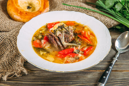 Наваристый суп с бараниной