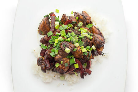 Куриная грудка с кориандром и рисом
