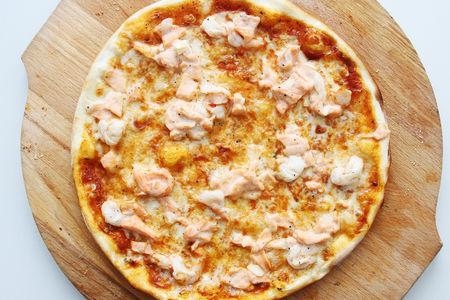 Пицца Креветки и лосось