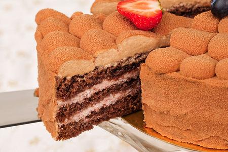 Порция торта №5 Клубника и шоколад