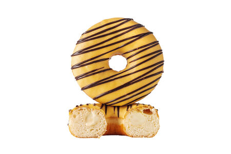 Банановый пончик