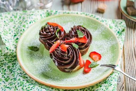 Шоколадный капкейк