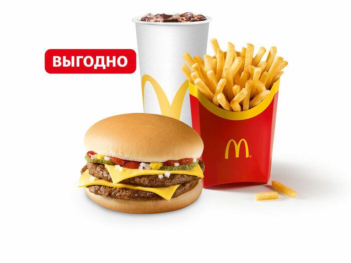 Двойной Чизбургер МакКомбо Большой