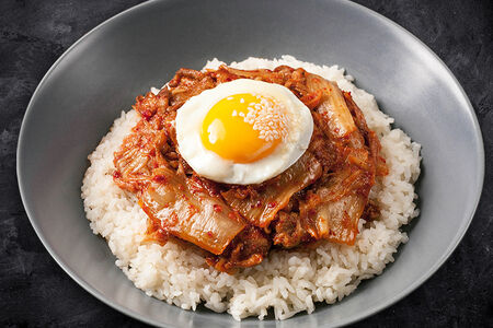 Кимчи покымпаб с бульоном