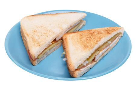 Сэндвич треугольный с копченой курицей
